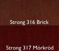 Stark 316 Brick / Strong 317 Mörkröd Från Hovden Stark 316 Brick / Strong 317 Dark Red From Hovden