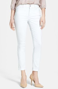 'Anabelle' Stretch Skinny Jeans (Optic White)
