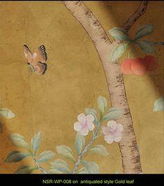 chinese wallpaper :: chinoiserie wallpaper :: silk wallpaper :: hand painted wallpaper