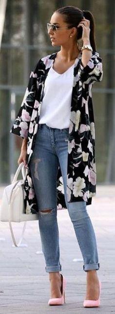 Increibles ideas para usar jeans y lucir super fashion #estaesmimodacom #ropa#modelitos#combinar#moda#joven #fashionideas