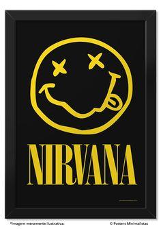 Nirvana - Música   Posters Minimalistas