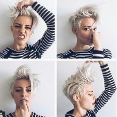 Heb jij lef ? Dan passen deze superstoere en mooie kapsels wel in jouw straatje! 13 superhippe korte haarstijlen !