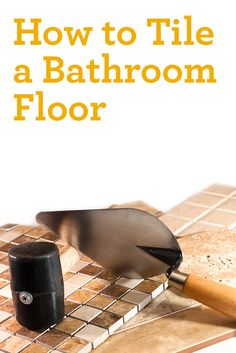 Does your bathroom need a flooring update? Here's what you need to know about tiling your bathroom floor. #loveyourhome #homeinspiration
