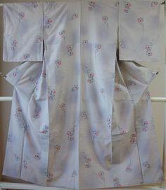 Kimono Dress Japan Geisha costume Vintage Japanese Tsumugi Komon 1610Z3S22