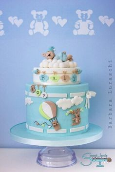 ❤ Beautiful Baby shower cake - Teddy bear and dream theme