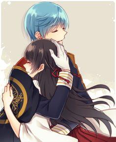 Ichigo x Saniwa Anime Love Couple, Manga Couple, Couple Cartoon, Cute Anime Couples, Couple Art, Anime Chibi, Anime Art, Touken Ranbu Characters, Anime Characters