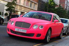 hot pink Bentley ;)