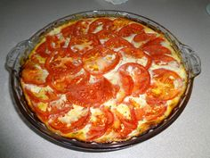 Tomato Ricotta Pie - the parmesan cheese is not a power food.