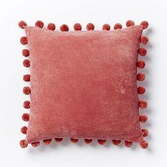 Jay Street Ashti Pom Pom Pillow Cover - Rose Bisque #westelm