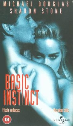 Michael Douglas and Sharon Stone in Basic Instinct Action Movie Poster, Action Movies, Movie Posters, Cinema Movies, Comedy Movies, Michael Douglas Movies, Sharon Stone Movies, Basic Instinct Movie, Satire