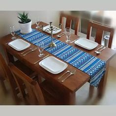 Azuka Table Runner With Aztec Design    #Home #Kitchen #NewItems