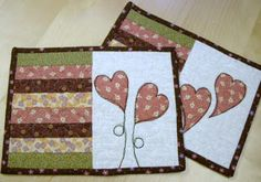 Kaktus Quilts  The hearts are lovely.