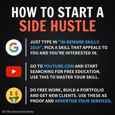 Start a side hustle – Affiliate Marketing – Home Business Success – Make Money Online Marketing Logo, Affiliate Marketing, Business Marketing, Business Infographics, Marketing Plan, Media Marketing, New Business Ideas, Business Money, Start Up Business