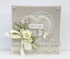 Wedding - Scrapbook.com #beautiful #floral #card