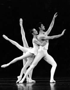 """In the spirit of the Olympic games, this PBT throwback features Balanchine's """"Apollo,"""" named after one of the Twelve Olympians of Greek mythology!   Artists: Janet Popeleski and Steven Annegarn  Photo: David Farmerie  Choreography: George Balanchine"""