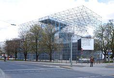 j. mayer h.: schaustelle pavilion at pinakothek der moderne - designboom | architecture