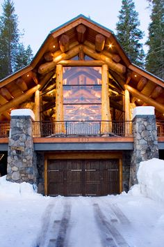 Edgewood Custom Log Homes @styleestate - One of the most stunning Log Home Galleries on the internet.