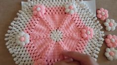 Crochet Flower Tutorial, Crochet Flower Patterns, Crochet Art, Baby Knitting Patterns, Crochet Motif, Crochet Flowers, Hand Embroidery Videos, Hand Work Embroidery, Creative Embroidery