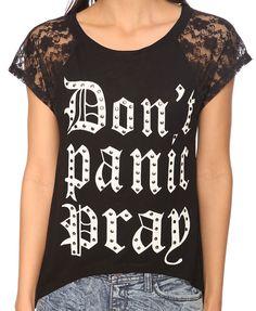 Look 3: Don't Panic Top / F21 $15.80