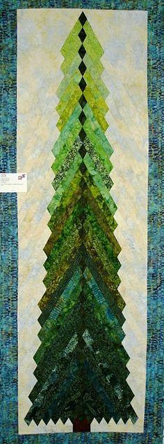 Tall Pines (7-1/2 feet tall) by Sandi Irish, 2013 Dakota County Star Quilters show.  Pattern at www.irishchain.com