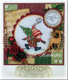 christmas card My little tree, part of the new release at Lili of the Valley stamps. Create Christmas Cards, Christmas Greeting Cards, Fall Cards, Winter Cards, Card Making Inspiration, Making Ideas, Copic, Handmade Christmas, Christmas Crafts