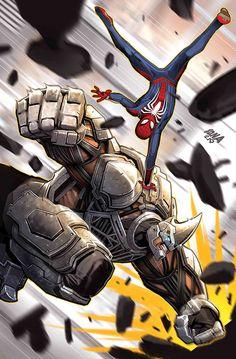 Marvel's Spider-Man: City at War Sinister Six Variant - David Nakayama Marvel Comics, Marvel Villains, Marvel Vs, Marvel Characters, Marvel Heroes, Amazing Spiderman, Spiderman Art, Spectacular Spider Man, Superhero Design