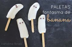 Nuestro Mundo Creativo: Fantasmas: nutritiva merienda para Halloween