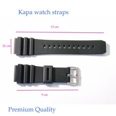 KAPA Mens Silicone Rubber Waterproof Divers Watch Strap Band PRO 22mm  A1