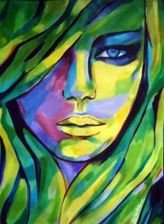 """Saatchi Art Artist: Helena Wierzbicki; Acrylic 2014 Painting """"""""Urban camouflage"""""""""""