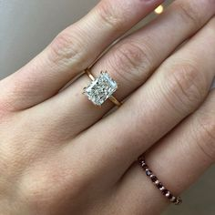 Traditional Wedding Rings, Traditional Engagement Ring New York Solitaire Setting, Traditional Engagement Rings, Glass Of Champagne, Radiant Cut Diamond, Quality Diamonds, Tie The Knots, Diamond Engagement Rings, Brain, Beauty