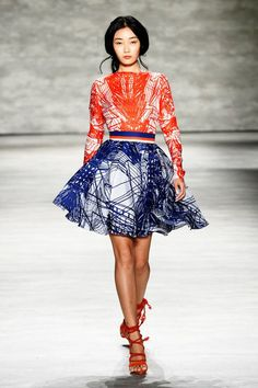 This is a 2 piece outfit from 2015 fashion week in NYC I absolutely love this very artsy and vibrant!