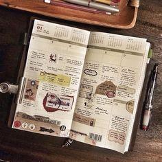 Week 1 in my tn. #midoritravelersnotebook #travelersnotebook #travelersnote…