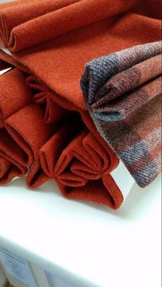 Burnt orange wool cu