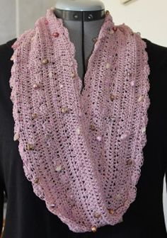 Bejeweled Cowl Scarf   Crochet Pattern   YouCanMakeThis.com