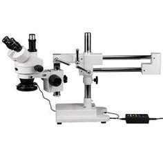 AmScope SM-4TX-144A Trinocular Stereo Microscope, WF10x E... #microscopes