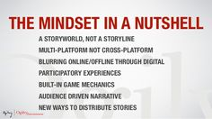 The transmedia mindset