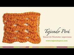 Punto fantasía # 2 tejido en ganchillo tunecino - YouTube