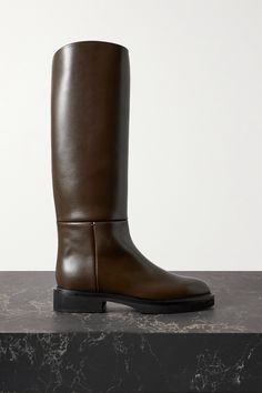 What's The deal with 'Old Money Style'? - DisneyRollerGirl Dark Brown Leather, Smooth Leather, Brown Derby, Tomboy Fashion, Fashion News, Knee High Boots, Riding Boots, Brown Boots, Pairs