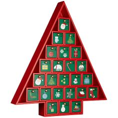 Buy John Lewis Wooden Advent Calendar, Red Online at johnlewis.com