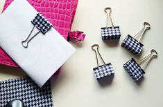 Coordinating Office Supplies - Cool Clips DIY - Dream a Little Bigger... Absolutely lurve this!!! ;)