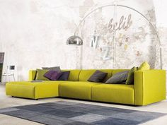 Furniture:Bright Yellow Sofa With Sectional Style With Colorful Piloows Match For Sofa Ideas Creative Sofa Designs Ideas - Amazing Models to Decorate Your Home Sofa Design, Canapé Design, Line Design, Interior Design, Luxury Sofa, Luxury Furniture, Home Furniture, Italian Furniture, Furniture Design