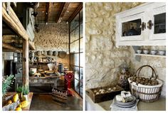 Really Rustic Kitchen Designs. Natural White Hues Compliment This Rustic Kitchen Design.
