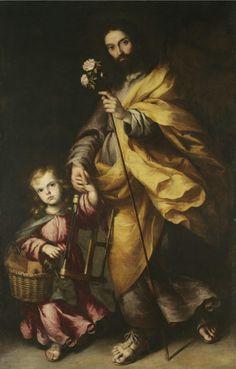 "coriesu: ""Saint Joseph and the Christ child School of Seville, circa "" Catholic Art, Catholic Saints, Religious Art, St Joseph, Medusa Art, Christian Images, Mama Mary, Jesus Face, John The Baptist"