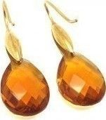 Σκουλαρίκια Senza Steel Gold Orange Crystals SSD35273