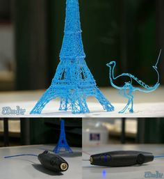 3Doodler 3D Printing Pen has been designed to allow you to create object from ABSplastic without the constrains of a 3D machine enclosure. Currently on Kickstarter, it has already raised double the funding required for production.