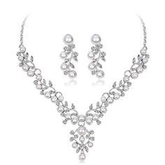 Ecloud Shop/® Blue Leaf Lampwork Glass Murano Bead Necklace Earrings FASHION