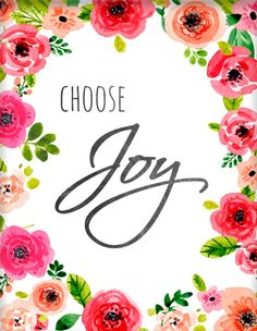 Mind, body and soul Joy Quotes, Bible Quotes, Happiness Quotes, Watercolor Quote, Watercolor Flowers, Quote Prints, Wall Art Prints, Choose Joy, Words Of Encouragement