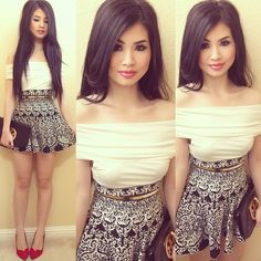"""""""Top & Skirt from @colorsofaurora @colorsofaurora @colorsofaurora 