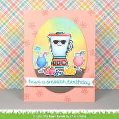 the Lawn Fawn blog: Lawn Fawn Intro: So Smooth card by Chari Moss.