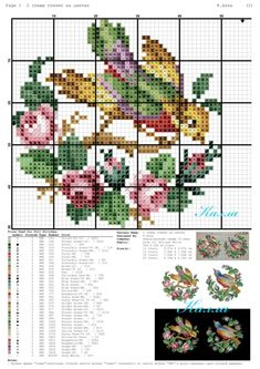 Breathtaking photo - go to our post for way more inspirations! Small Cross Stitch, Cross Stitch Bird, Cross Stitch Animals, Cross Stitch Flowers, Cross Stitch Charts, Cross Stitch Designs, Cross Stitching, Cross Stitch Patterns, Tambour Embroidery